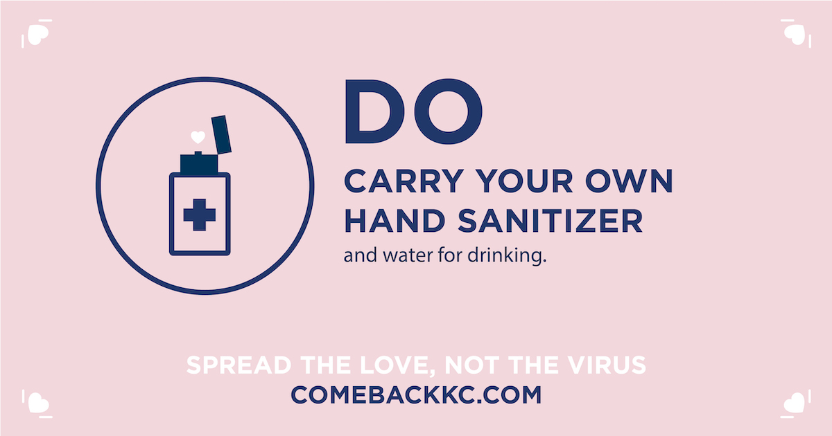 Do Carry Your Own Hand Sanitizer & Water