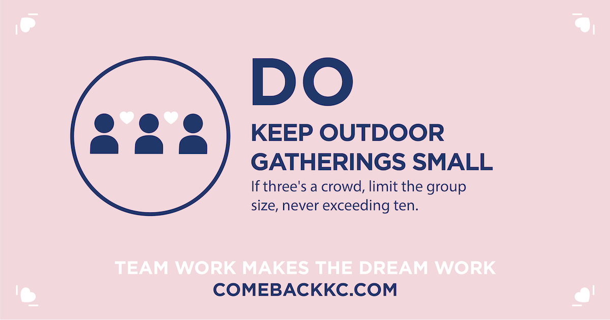 Do Keep Outdoor Gatherings Small